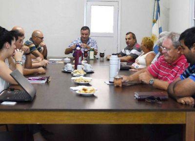 El intendente se reunió con representantes gremiales locales