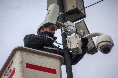 Repararon las 400 cámaras de seguridad dañadas por los temporales