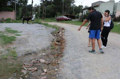 Vecinos de Villa del Parque afirman que la mayoría de las calles está intransitable