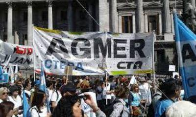 Representantes de Agmer participarán el lunes de la movilización docente al Congreso de la Nación