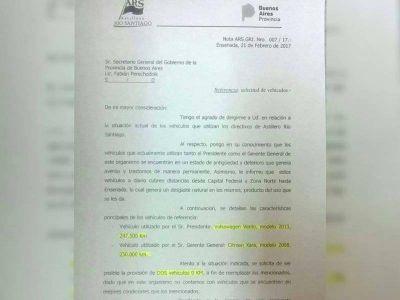 """Por el """"estado de antigüedad"""" de sus autos, el presidente de Astilleros pidió a Provincia dos 0 km"""
