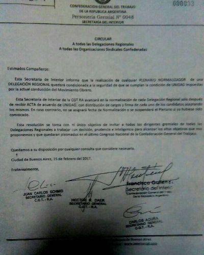 ¿Se frustró un intento de normalización de la CGT Tucumán?