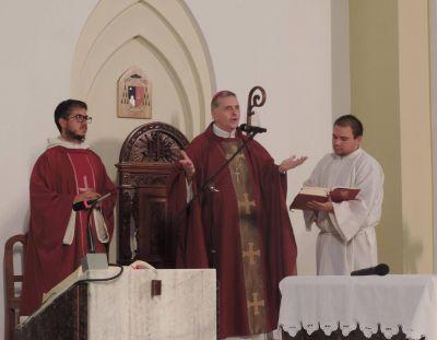 El obispo celebró la misa de Miércoles de Ceniza
