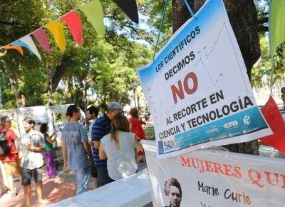 Científicos puntanos protestaron por los recortes del gobierno nacional