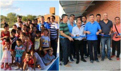 El Gobernador realizó múltiples inauguraciones en Lapachito y La Verde