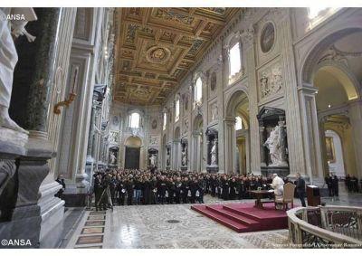 Encuentro cuaresmal del Papa Francisco con los párrocos de Roma