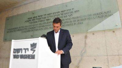 El diputado argentino Sergio Massa visitó Israel