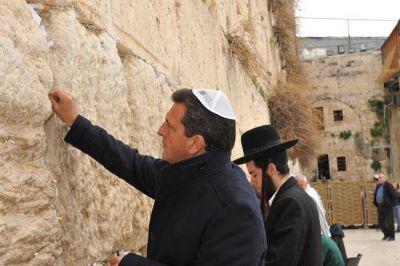 Massa en Israel: ''Siempre tomé las enseñanzas del pueblo judío''