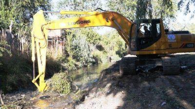 Retiraron 250 toneladas de residuos del canal Villa María