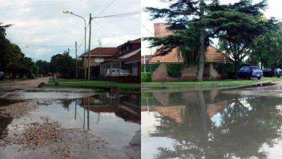 Barrio Estrada: Vecinos reclaman desagües por la inundación de calles