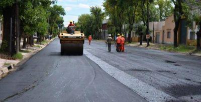 Este lunes concluirán las obras de repavimentación de la Av. Cabral