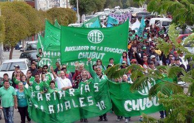 ATE Chubut movilizó a 600 trabajadores en reclamo de discusión paritaria