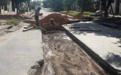 Lomas: avanzan las obras hídricas en Villa Centenario