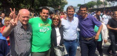 Sebastián Alvarez, en la marcha de la CGT