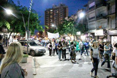 Gremios y sectores de la oposición marcharon por las calles de Junín