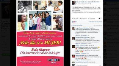 La gobernadora saludó a las santiagueñas en su día