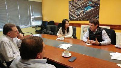 """""""El potencial de Río Grande en el campo de la energías renovables es enorme"""", dijo Stefani"""