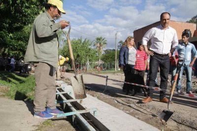 Corral recorre obras en el oeste de la ciudad
