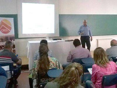Dorrego estuvo presente en una reunión del OPDS realizada en Tres Arroyos