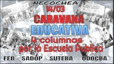 Este martes, caravana de gremios docentes por la ciudad
