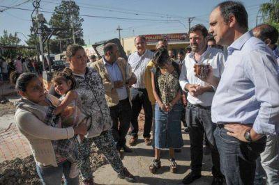 Avanzan en Santa Rosa de Lima y Padre Rosso las obras de mejoramiento