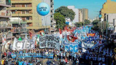 Movimientos sociales llevarán adelante una jornada de protesta en todo el país