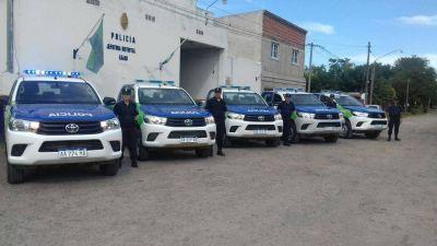 Ya están en Luján los cinco nuevos patrulleros