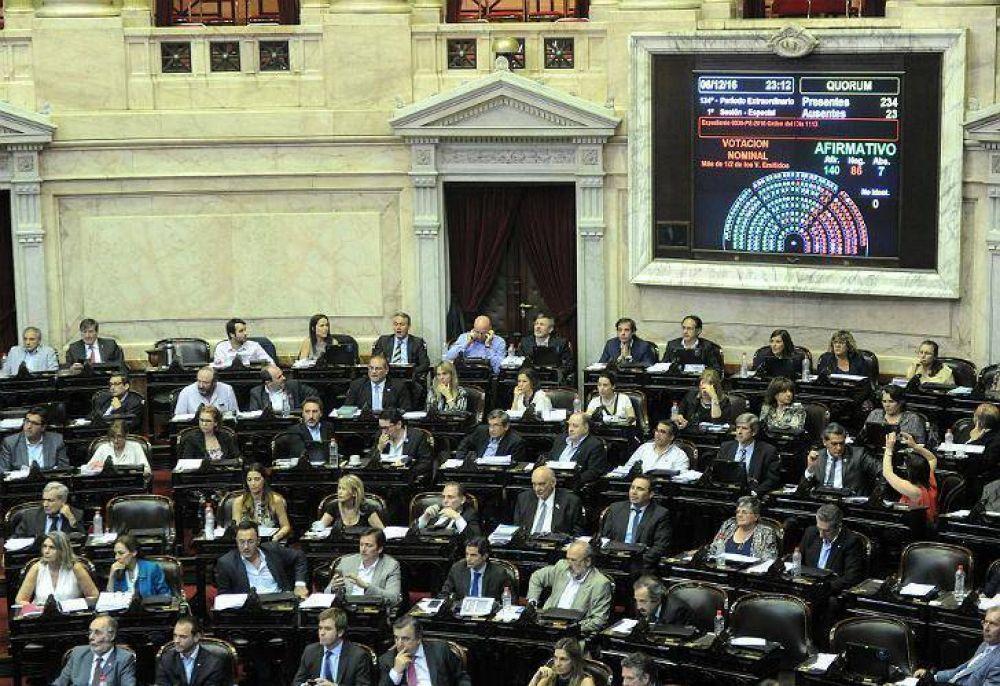 Primer ajuste: diputados y senadores aumentan un 10% sus dietas