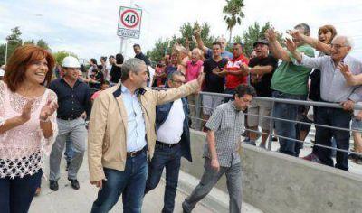 Ferraresi inauguró el primer Paso Bajo Vías de Avellaneda