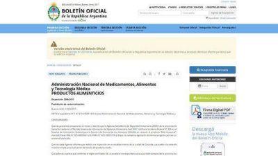 La ANMAT prohibió productos alimenticios y cosméticos