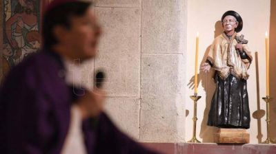 Una parroquia porteña desbordada de fieles recibió la imagen del cura Brochero