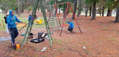La comuna mejoró una nueva plaza en Monte Rincón