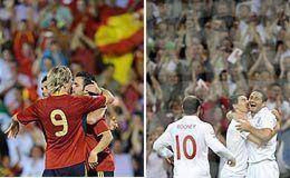 Inglaterra y España buscan asegurar su pasaje a Sudáfrica