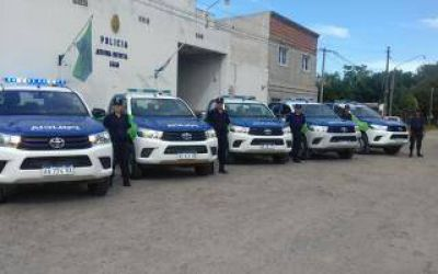 Luján: Cinco patrulleros nuevos para la Policía Bonaerense