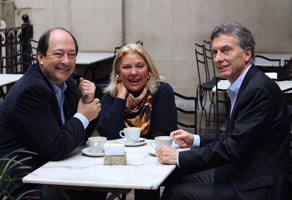 Ernesto Sanz y Elisa Carrió suman poder en Cambiemos