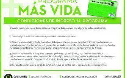 El Municipio de Quilmes continúa con las altas del Programa Plan Más Vida