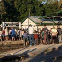 Continúa la rebelión en Hudson: no van a dejar pasar el tren eléctrico si siguen siendo