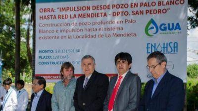 La Mendieta y El Sauzal: Comenzó obra para la provisión de agua potable
