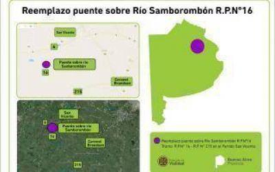 Provincia reemplazará el puente sobre el Río Samborombón