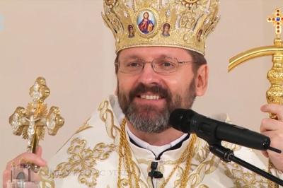 El Patriarca de la Iglesia Greco Católica Ucrania visita el país