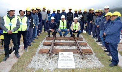 Morales dio inicio a las obras del ferrocarril Jujuy – La Quiaca