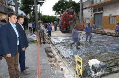 Gustavo Posse y Jorge Macri recorrieron las obras en Paraná