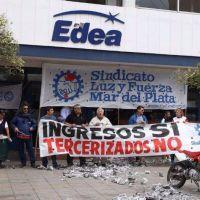 Ante la venta de la empresa Edea, paran los trabajadores de Luz y Fuerza