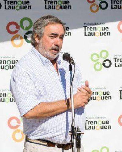 Fernández se mostró visiblemente molesto y la causa es el conflicto con algunos médicos del Hospital de Trenque Lauquen
