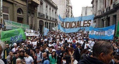 Contra el traspaso a la Ciudad, judiciales cumplieron primera jornada del paro de 36 horas