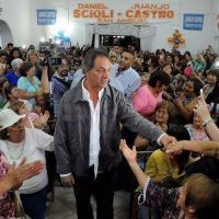 Scioli en San Miguel: