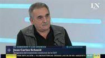 Schmid, a favor de paritarias con cláusulas de inflación