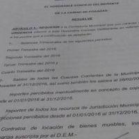 Posadas: piden a la contaduría municipal informes sobre los balances del periodo 2.016