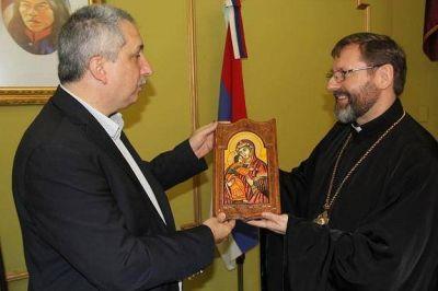 Passalacqua recibió al arzobispo mayor de los ucranios Sviatoslav Shevchuk