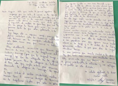 Echarren se despidió de Vidal con una carta: